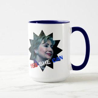 Hillary Clinton 2016 - Yes She Can - Mug