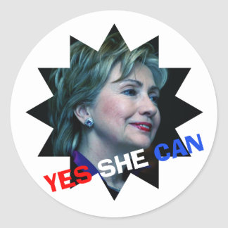 Hillary Clinton 2016 - Yes She Can - Sticker