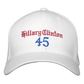 Hillary Clinton 45 Embroidered Hats