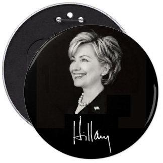 Hillary Clinton 6in Button