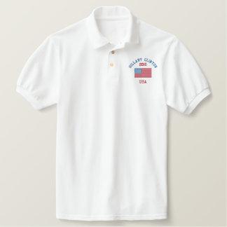Hillary Clinton American Flag Polo