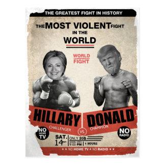 Hillary Clinton and Donald Trump 2016 Postcard
