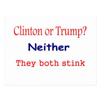 Hillary Clinton and Donald Trump both stink Postcard