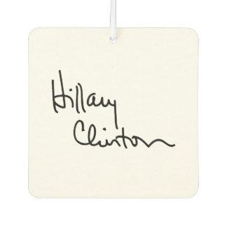 Hillary Clinton Autograph (black) -.png Car Air Freshener