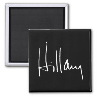 HILLARY CLINTON AUTOGRAPH -.png 2 Inch Square Magnet