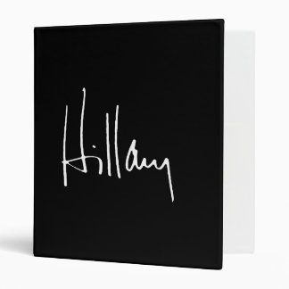 HILLARY CLINTON AUTOGRAPH -.png 3 Ring Binders
