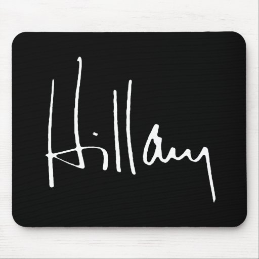 HILLARY CLINTON AUTOGRAPH -.png Mouse Pad