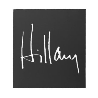 HILLARY CLINTON AUTOGRAPH - png Memo Note Pad