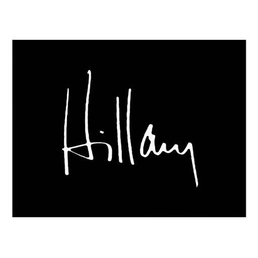 HILLARY CLINTON AUTOGRAPH -.png Postcard