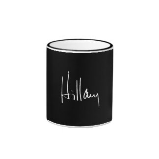 HILLARY CLINTON AUTOGRAPH -.png Ringer Coffee Mug