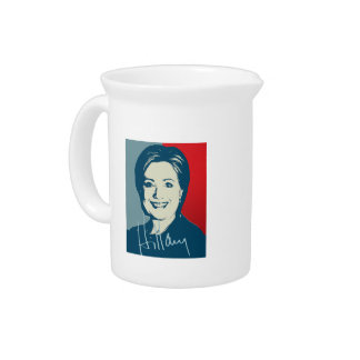 HILLARY CLINTON AUTOGRAPHED SIGN PITCHER