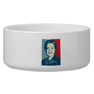 HILLARY CLINTON AUTOGRAPHED SIGN.png Pet Food Bowls