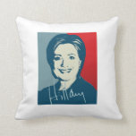 HILLARY CLINTON AUTOGRAPHED SIGN.png Pillow