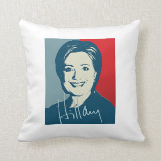 HILLARY CLINTON AUTOGRAPHED SIGN.png Throw Pillows