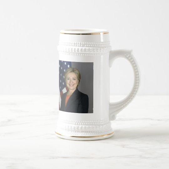 Hillary Clinton Beer Stein