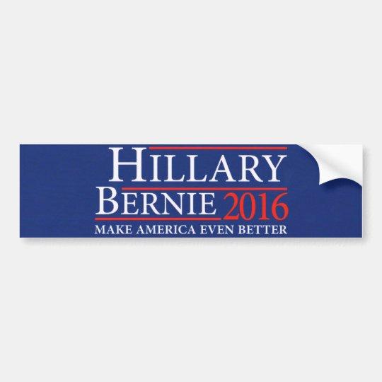 Hillary clinton bernie sanders bumper sticker 2016