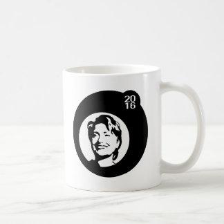 hillary clinton black bubble coffee mug