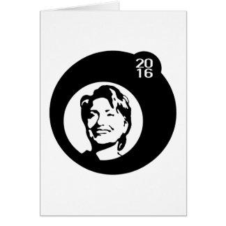 hillary clinton black bubble greeting card