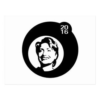 hillary clinton black bubble postcard