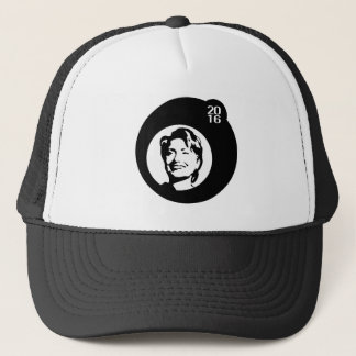 hillary clinton black bubble trucker hat