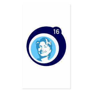 hillary clinton blue bubble Double-Sided standard business cards (Pack of 100)