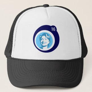 hillary clinton blue bubble trucker hat