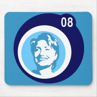 hillary clinton : blue bubbles : mouse pad