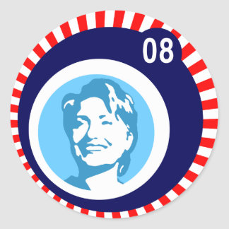 hillary clinton blue bubbles stickers