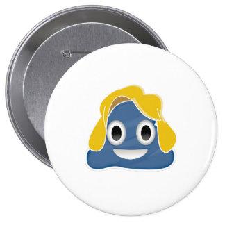 Hillary Clinton Blue Poo - -  Pinback Button