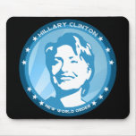 hillary clinton : blue rays : mouse mats
