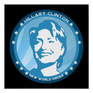 hillary clinton : blue rays : poster