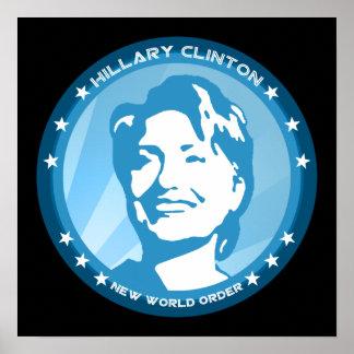 hillary clinton : blue rays : poster