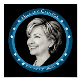 hillary clinton : blue rays : posters