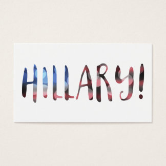 Hillary Clinton bokeh Business Card