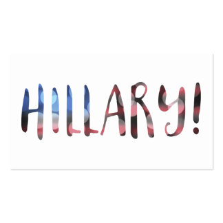 Hillary Clinton bokeh Double-Sided Standard Business Cards (Pack Of 100)
