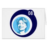hillary Clinton: burbujas azules: Felicitacion