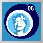 hillary Clinton: burbujas azules: Impresiones