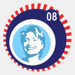 hillary Clinton: burbujas azules: Pegatina