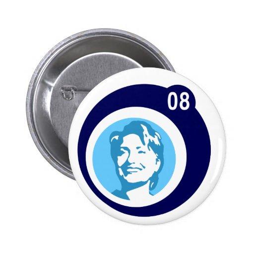 hillary Clinton: burbujas azules: Pin