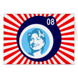 hillary Clinton: burbujas azules y rayos rojos: Tarjetas