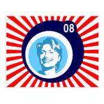 hillary Clinton: burbujas azules y rayos rojos: Postales
