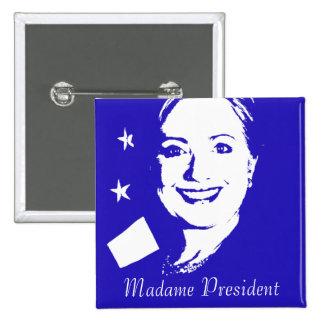 Hillary Clinton 2 Inch Square Button