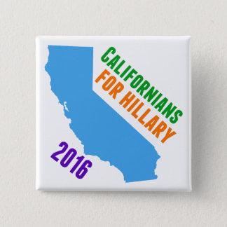 Hillary Clinton California Pinback Button