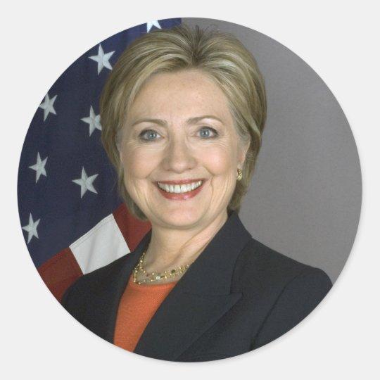Hillary Clinton Classic Round Sticker
