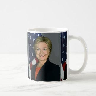 hillary clinton classic white coffee mug