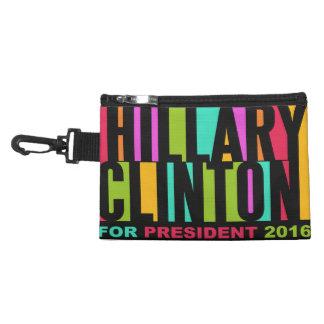 Hillary Clinton colorida 2016 bolsos accesorios