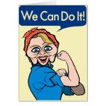 Hillary Clinton como Rosie el remachador Tarjeta De Felicitación