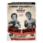 Hillary Clinton contra Donald Trump 2016 Tarjeta Postal