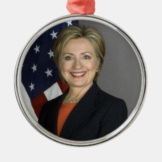 Hillary Clinton Adorno Redondo Plateado