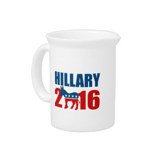 HILLARY CLINTON DEMOCRAT 2016 BEVERAGE PITCHERS